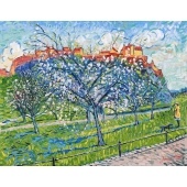Blossom with Edinburgh Castle Signed Limited Edition Framed Giclee Print