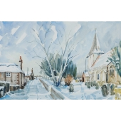 Bosham Church in the Snow Signed Limited Edition Giclee Print
