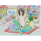 Girl on Rug Signed Limited Edition Giclee Print