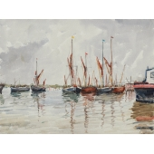 Pin Mill, Suffolk Signed Limited Edition Giclee Print
