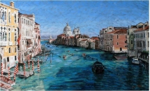"The Grand Canal, Venice  20"" x 30""  Oil on Board  £800"