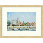 Bosham Church Signed Limited Edition Framed Giclee Print