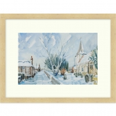 Bosham Church in the Snow Signed Limited Edition Framed Giclee Print