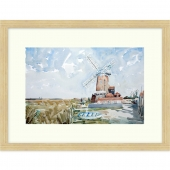 Cley Windmill, Norfolk Signed Limited Edition Framed Giclee Print