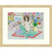 Girl on Rug Signed Limited Edition Framed Giclee Print