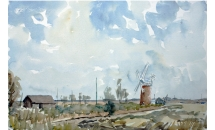 "Horsey Windpump, Norfolk 20"" x30""  Watercolour  £250"