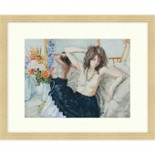 Girl with Black Skirt Signed Limited Edition Framed Giclee Print