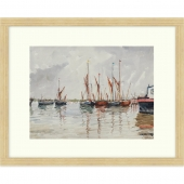 Pin Mill, Suffolk Signed Limited Edition Framed Giclee Print